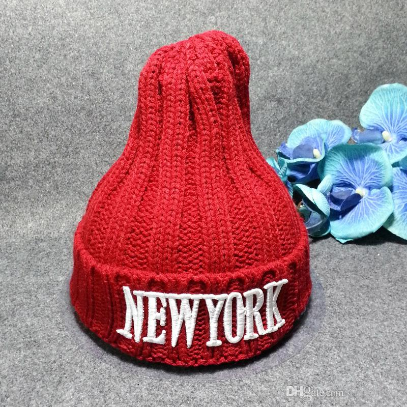 2019 Baby Hats CC Trendy Beanie Crochet Fashion Beanies Outdoor Hat New  York Winter Newborn Beanie Children Wool Knitted Caps Warm High Quality  From ... 84a6067d81a