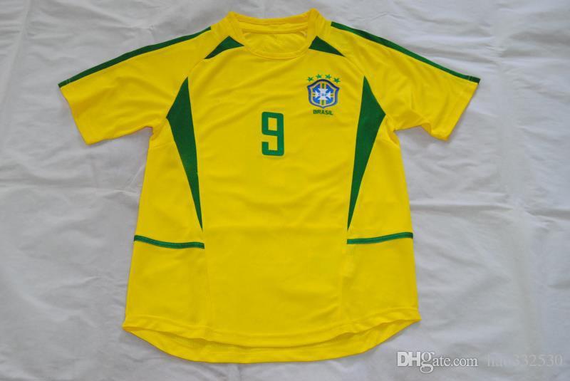 2002 World Cup Brasil 9 RONALDO Home Retro Jersey Classic Jersey Brasil  RONALDO Online with  26.04 Piece on Hao332530 s Store  73e5698c8