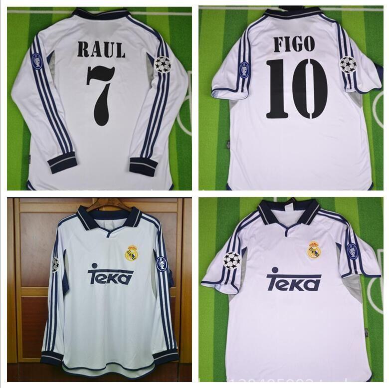 sale retailer 6f14f 539e1 2000 2001 real madrid jersey retro vintage classic 00 015 RAUL FIGO  camisetas futbol maillot de foot free shipping