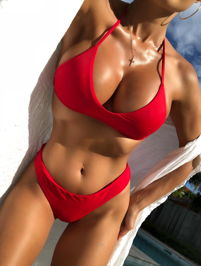 07d6a38a5372b 2019 Sexy Bandage Push Up Bikini Set Women Thong Swimwear Micro Brazilian  Bikinis Strappy Beach Wear Triangle Swimsuit Biquini Female From  Swimwear2016