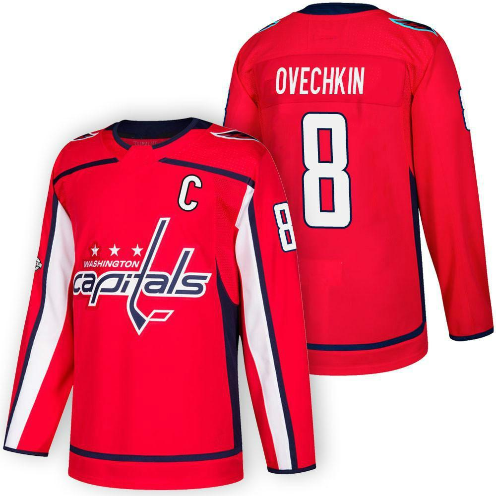 60bead44b53 new style 2018 new 8 alex ovechkin jersey washington capitals jersey 100  stitched high quality top