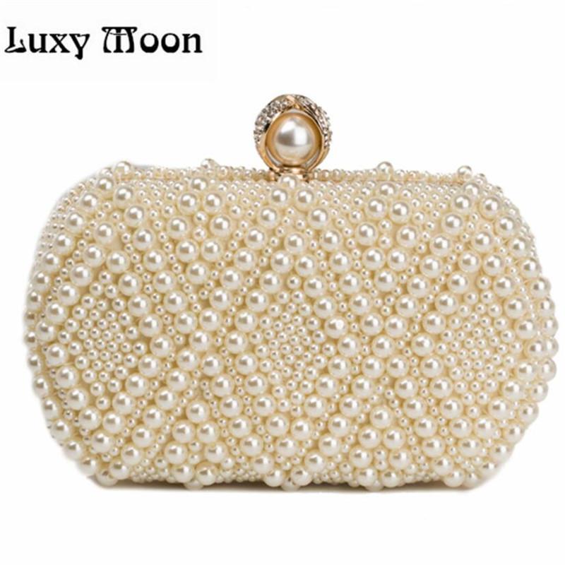 100% NEW Pearls Clutch Bag Luxury Diamond Evening Bags Gold Clutch Silver  Purse Shinny Glitter Wedding Bridal Wallets W551 Small Handbags Clutch From  ... 787faa97887b