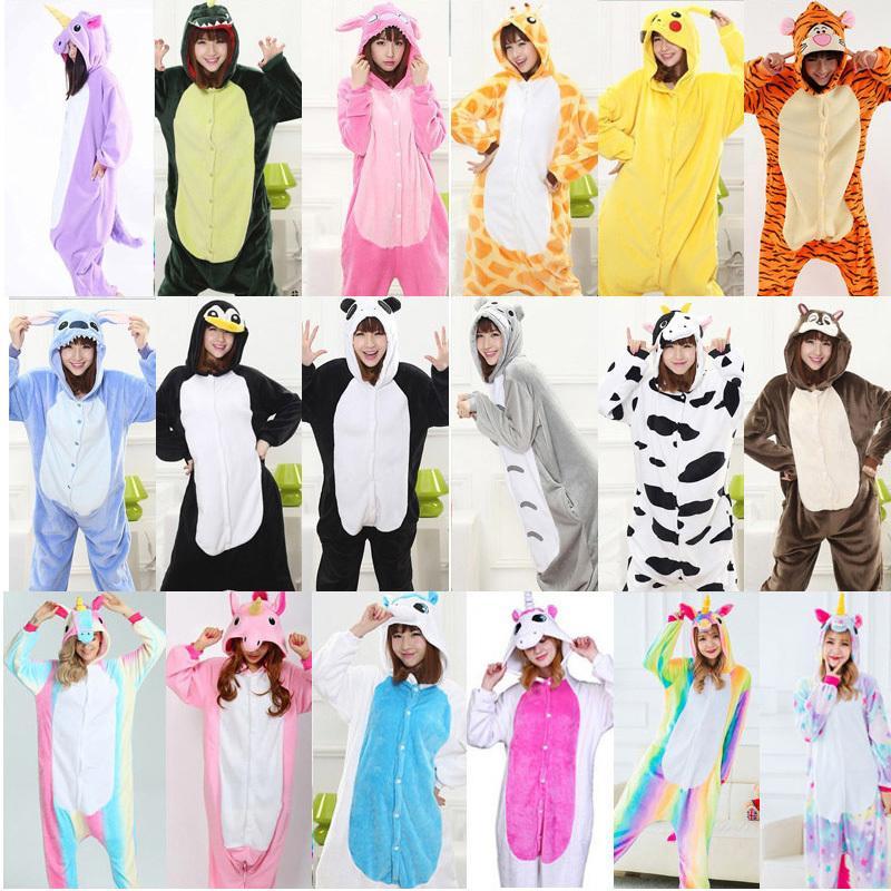 fd0d32a92 2018 Conjuntos de pijama de unicórnio de Inverno Mulheres pijama pikachu  unicornio animal totoro para adultos Animal Pijama Pijama Dos Desenhos  Animados ...