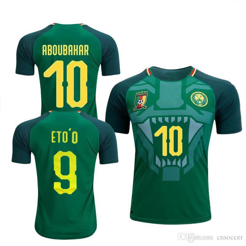 Compre 2018 2019 Camarões Camisa De Futebol Equipe Nacional Vincent  Aboubakar Camisas De Futebol Clinton N Jie Benjamin Moukandjo Camisas De  Futebol Maillot ... 10e9e74d5b56d