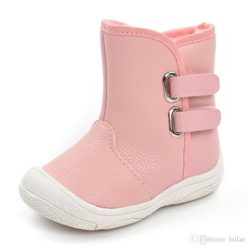 Compre Cute Winter Warm Baby Shoes Pu Infants Toddler Baby Boys Girls Botas  Soft Newborn First Walkers Antideslizante A  33.03 Del Leilar  66a277d32daf7