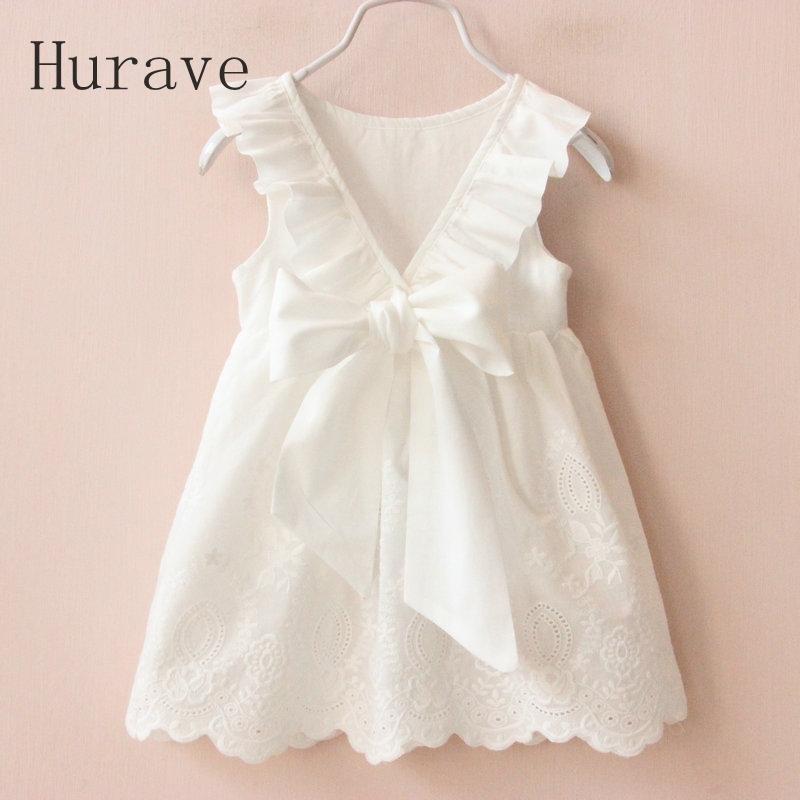 631d134e2fad Solid White Girl Dresses 2018 Summer Style Children S Clothing ...