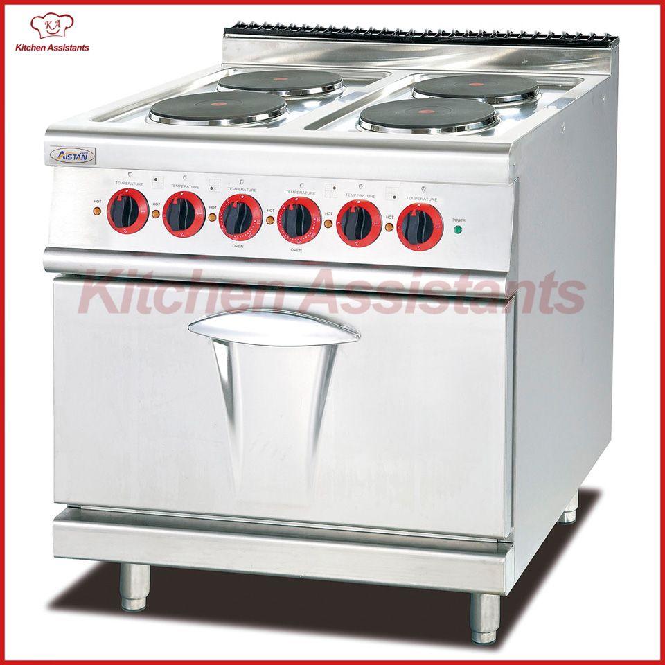 Gamma elettrica EH887B con 4 combinazioni di piastre riscaldanti con forno  per piano cottura professionale