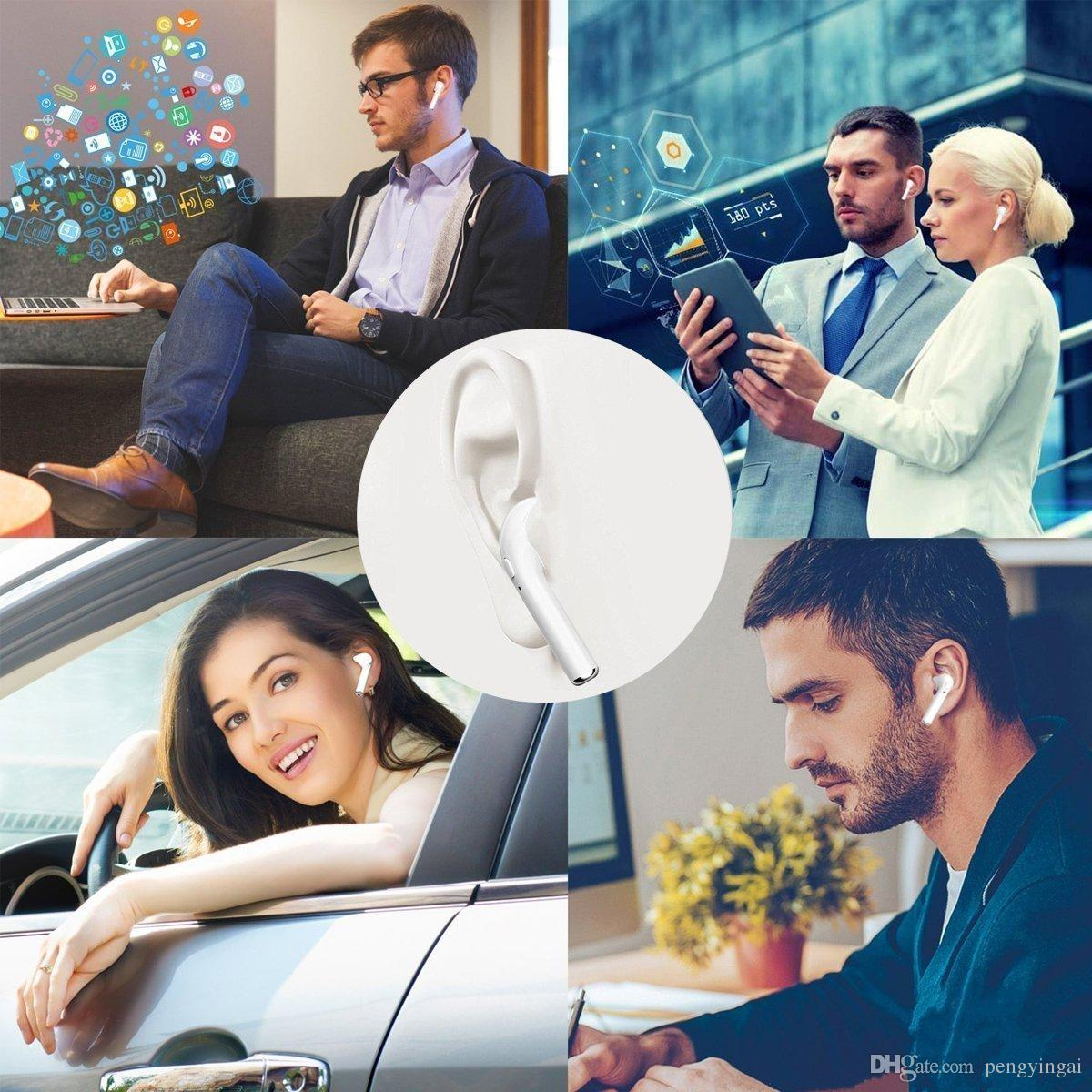 precios de venta enteros TWS-i7 dual Bluetooth Wireless Audífonos Auriculares con auriculares Bluetooth del caso del cargador para iOS, Android Tabla