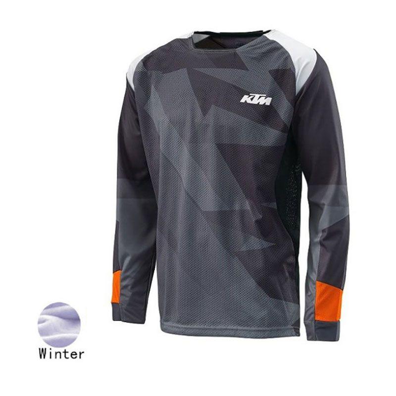 1d311e635 SPTGRVO 2019 Wimter Motocross Downhill Jersey Men S Mtb Off Road Motocross  Jersey Thermal Fleece Mountain Bike Long Shirt Cycling Tights Online Tops  From ...