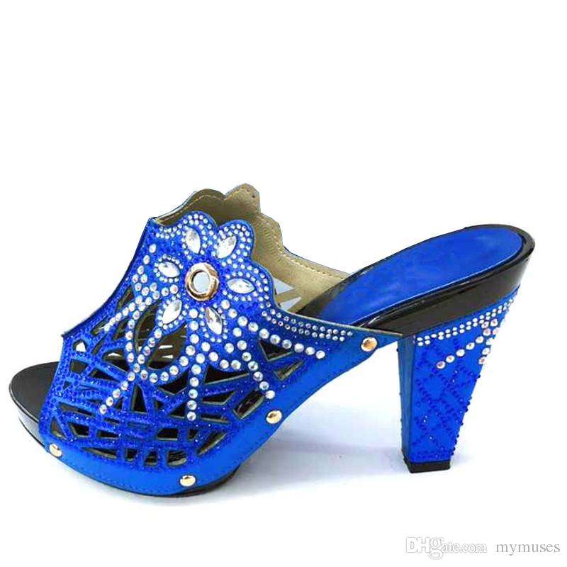 cf88dc50b93c1b Acheter Royal African Wedding Chaussures Africaines Set Nouveauté Chaussures  Italiennes Chaussures Nigérianes Possible Avec Sac De Soirée Bonne Qualité  ...