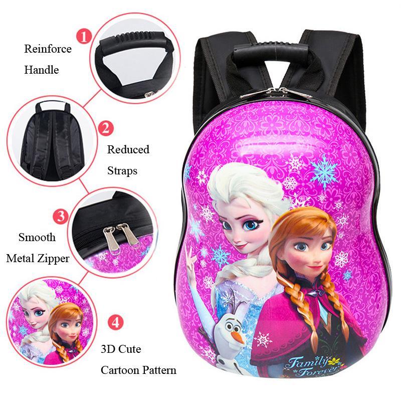 d2ac36f0779 2018 New 3D Children School Bags Pupils School Backpack Egg Shell Cartoon  School Bag Kindergarten Bags Infant Mochila Backpack Y18110107 Backpacks  Lowest ...