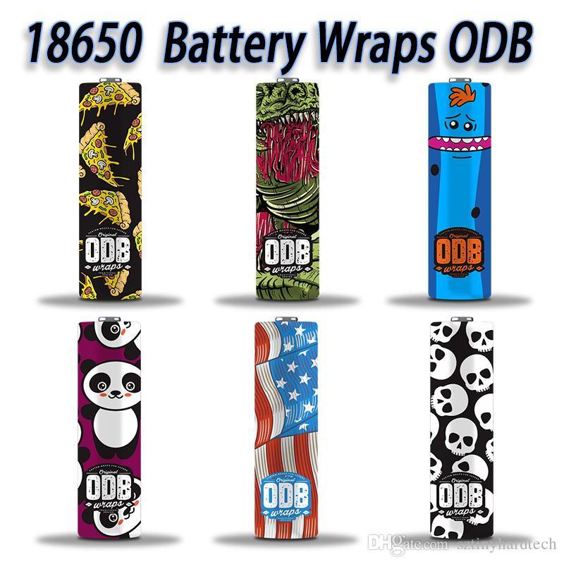 Mais novo 18650 ODB Dos Desenhos Animados da bateria PVC Adesivo de Pele SuperHero Shrinkable Envoltório Capa Manga Calor Encolher Envoltório para Baterias Wrapper