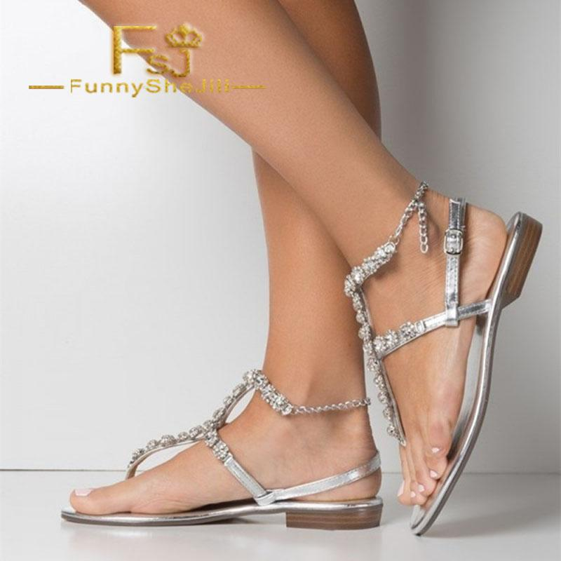 7a9e314820365 Silver Rhinestone Gladiator Sandals Comfortable Beach Sandals Summer  Attractive Generous Incomparable Noble Elegant FSJ Sexy Discount Shoes  Platform Heels ...