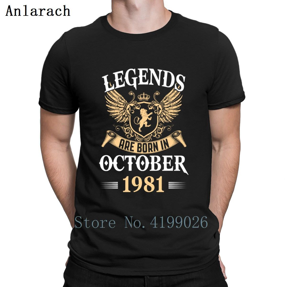 6408ea71 Legends Are Born In October 1981 T Shirt Homme Hip Hop Gift S 3xl Tshirt For  Men Summer Trend Character Cotton New Style Shop For T Shirts Shop For T  Shirts ...