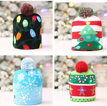 Acquista Cappello Di Natale Lavorato A Maglia LED Leggero Unisex Adulti  Bambini Capodanno Natale Luminoso Lampeggiante Knitting Crochet Hat  Decorazione Del ... f7a93d22b495