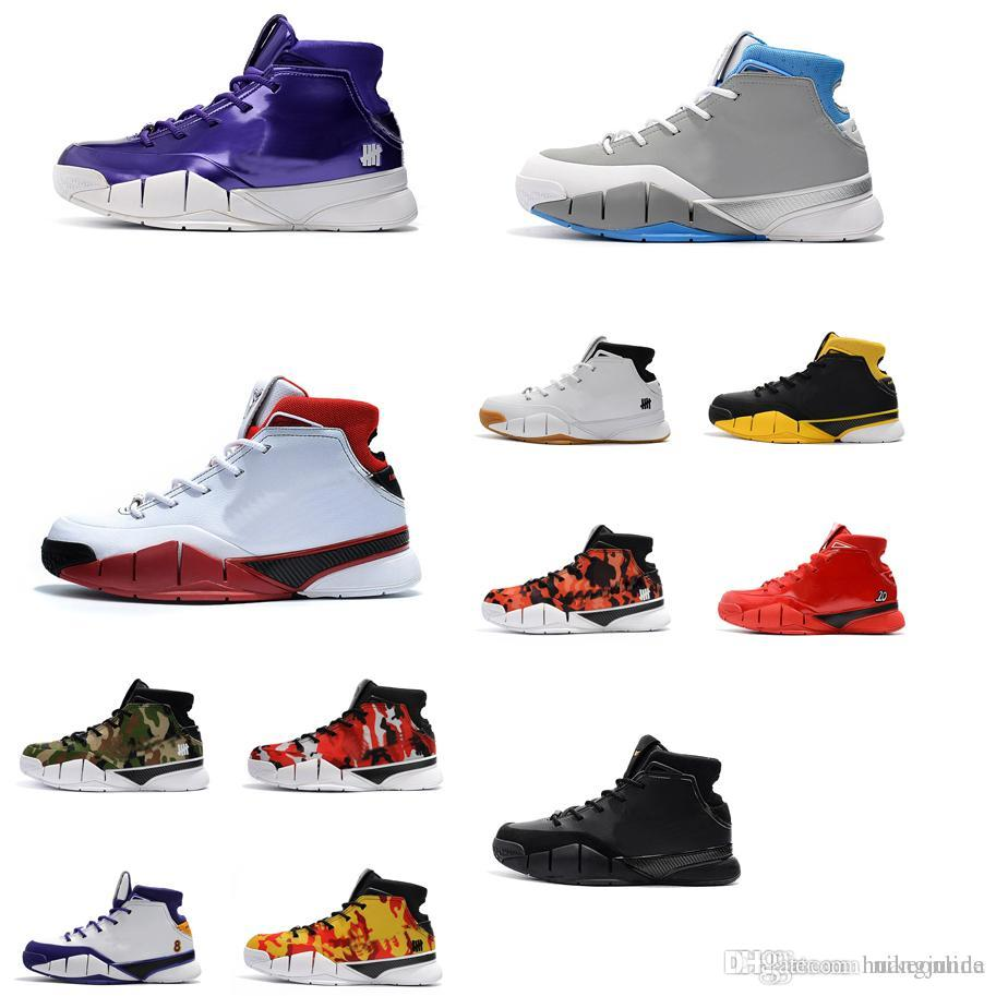 93495a1c332d 2019 Cheap New Colors Mens Kobe 1 Protro Basketball Shoes Undefeated Purple  MPLS Grey Blue UNC AS White Red Zoom Air ZK1 Sneakers Boots For Sale From  ...