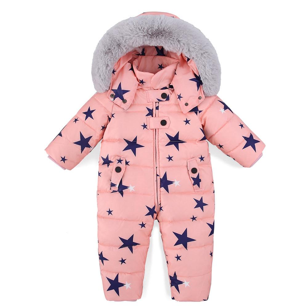 3d297be3b Russian Winter Baby Snowsuit Boy Girl Jumpsuit Kids 90% Duck Down ...