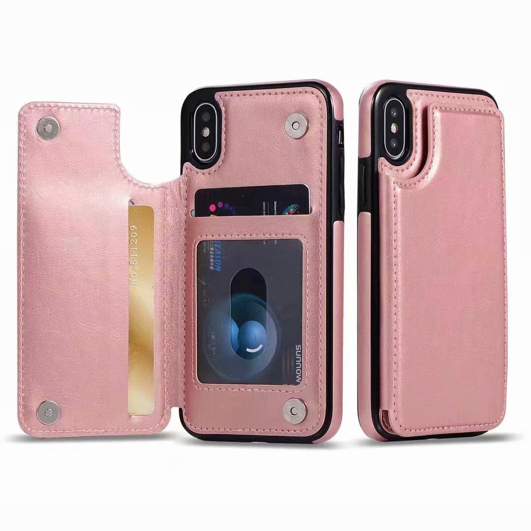 new product eb9e9 3bded Luxo pu leather flip phone case para iphone x xs max xr case carteira  cartão magnético tampa traseira para o iphone xs max 6 6 s 7 8 além de