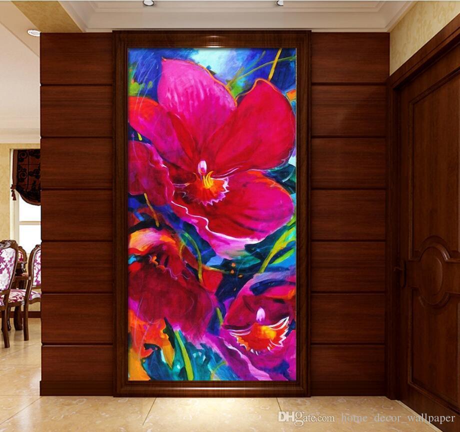 Europeo Moderno 3D entrada pasillo Fondo de pantalla Arte abstracto Sala de estar Dormitorio Damasco Papel tapiz floral Escritorio Decor WallPaper