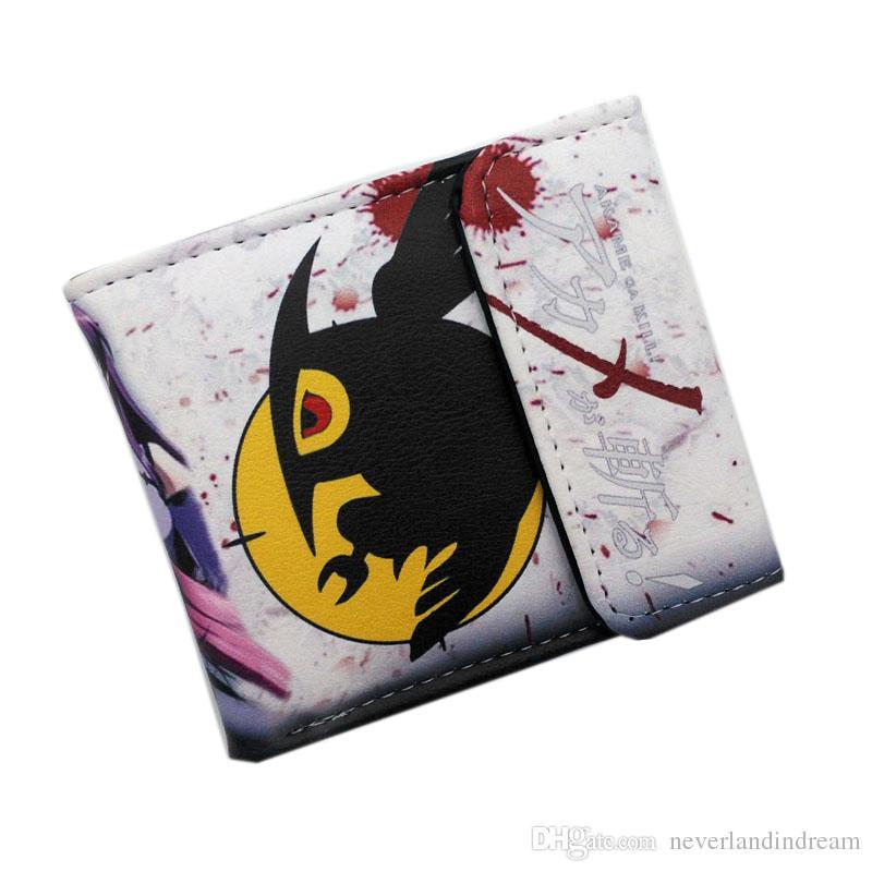 Nuevo Hot Akame ga KILL Anime Monedero Destino Noche Corto Monedero de bolsillo Tarjeta y soporte para foto Bolsa de dinero