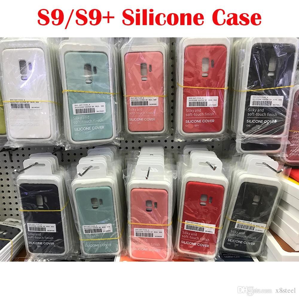 hot sale online fcd6a 1dbf4 Original silicone cases for Samsung S9 S9 plus case shockproof for Samsung  Galaxy S9 case luxury silicon cases with logo with retail box