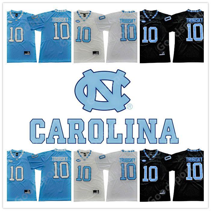 f10faf0a7d9 2019 2019 NCAA Men Tar Heels #10 Mitch Trubisky Black Blue White Stitched North  Carolina College Football Jerseys Cheap NEW Sport Khalil Mack Top From ...