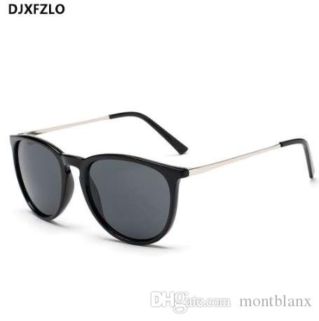 9dc53c4ea8 DJXFZLO Retro Male Round Sunglasses Women Men Brand Designer Sun ...