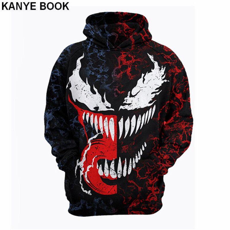 021717c7bc Acheter Usa Taille 2018 Nouveau Design Venom 3D Anime Imprimé Marvel Style  Gothique Hoodies Hommes Sweatshirts De Mode Sweat À Capuche De $31.26 Du ...