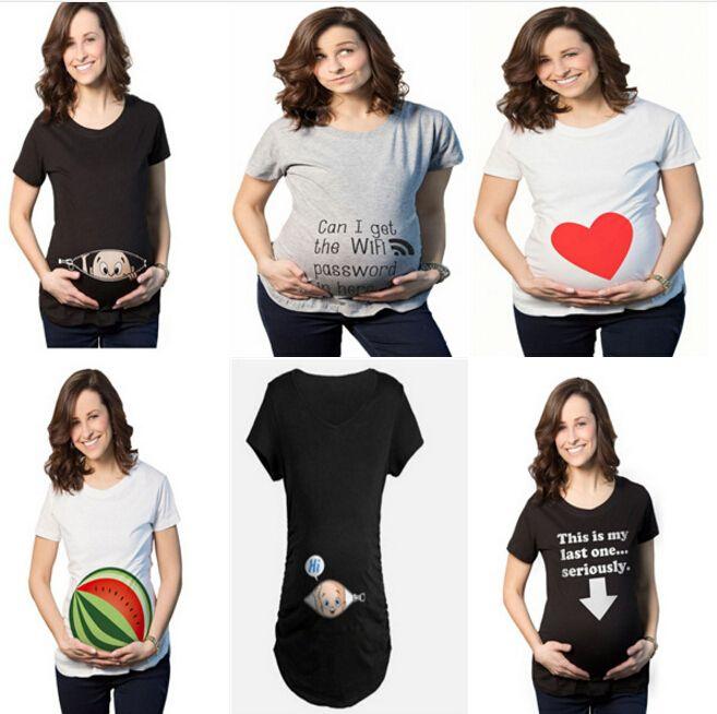 ساحة كبيرة المرأة فضفاض المحملة لا تأكل بذور البطيخ طباعة أعلى الملابس s-3xl الأم تي شيرت