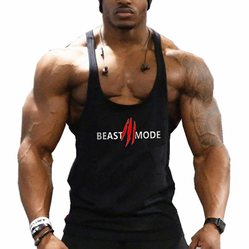 fd8e8b56ae0ae 2019 Gyms Vest Musculation Vest Bodybuilding Clothing And Fitness Men  Undershirt Solid Tank Tops Blank Golds Men Undershirt From Xianfeiyu