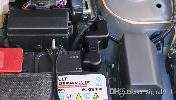 Alta calidad ABS cromado negativo energía de la batería eléctrica electrodo de antioxidantes cubierta cubierta decoración protección contra el polvo para Nissan patadas 2017-2020