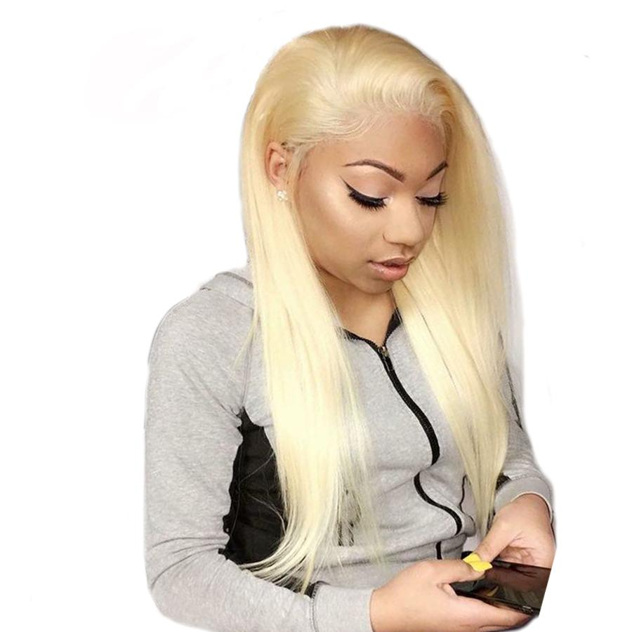 #613 Blonde Deep Part 13*6 Lace Front Wig Pre Plucked with Baby Hair Remy Brazilian Straight Human Hair Wigs 8-24 Inches 150% Density