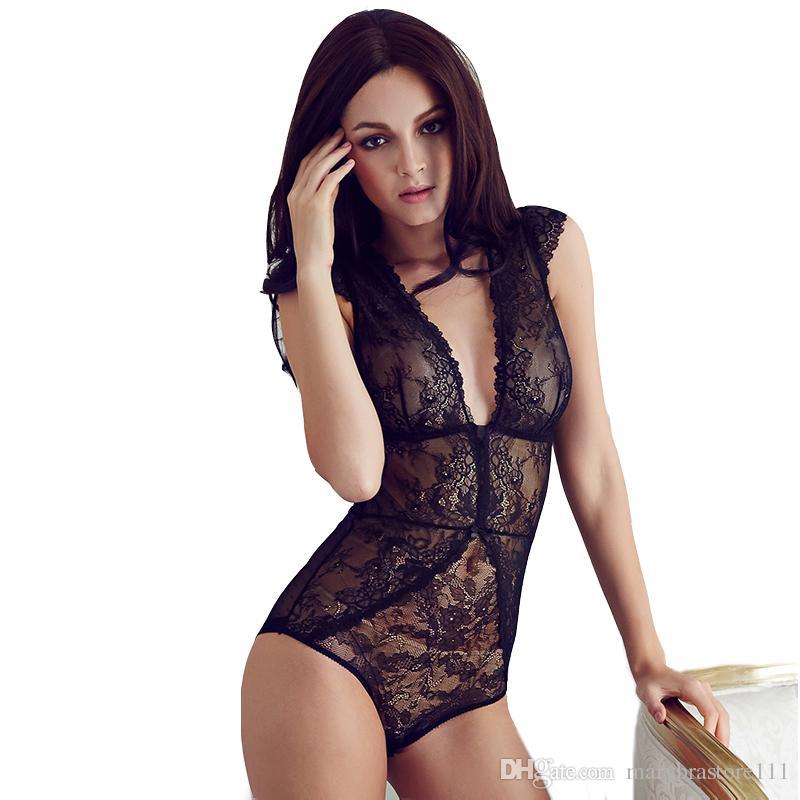 f9d6051e07 2019 Sexy Full Transparent Lace Bodysuit Women V Vest Black Shapers Corset  Slim Bodies Hot Shapewear Panty Shaper For Women S M L From  Marybrastore111