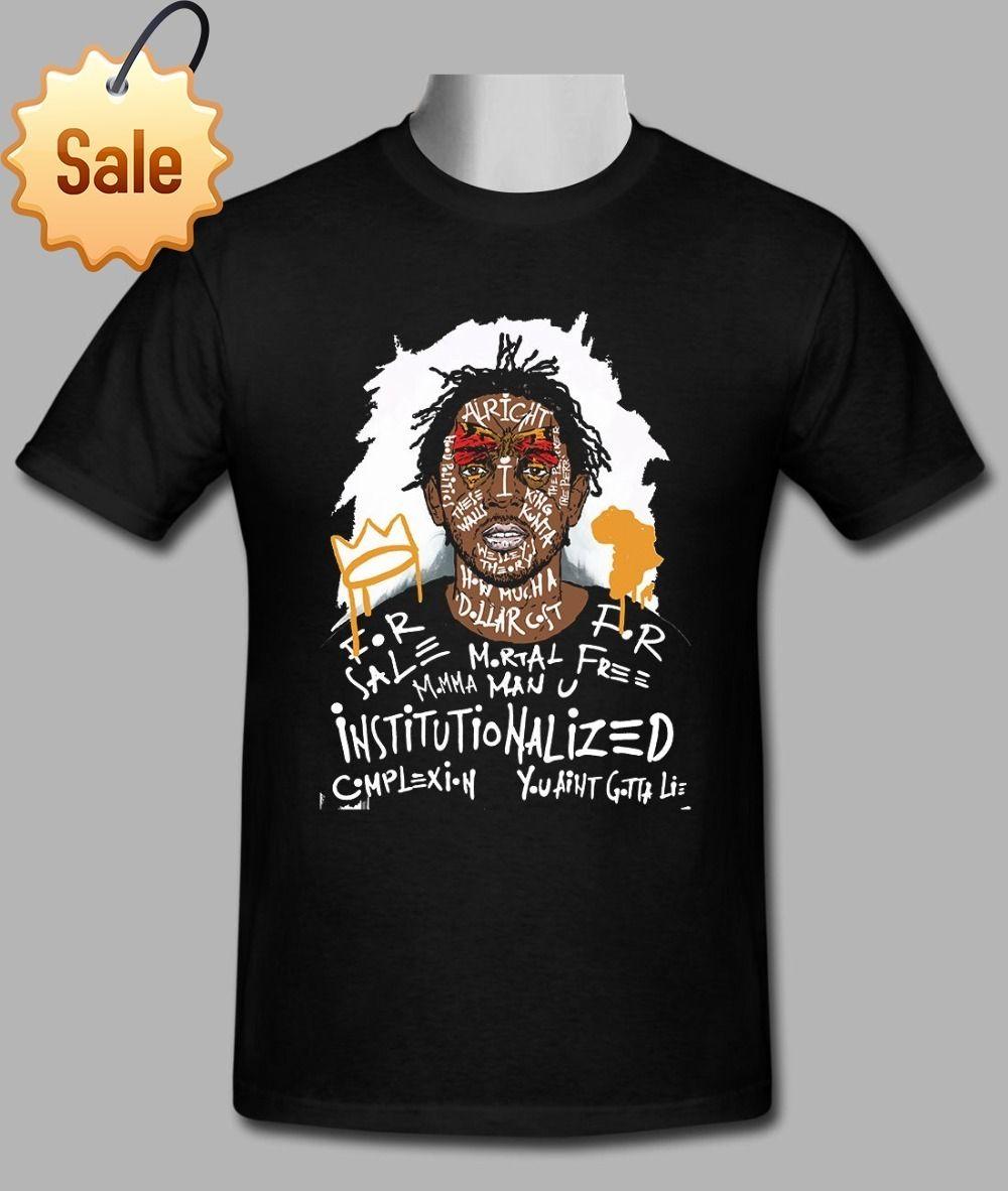 12bb7c0e Newest Funny New Kendrick Lamar Black T Shirt Size S To 2XL Funny Printing  T Shirts Men Short Sleeve T Shirts Business Tee Shirts Printing Coolest T  Shirts ...