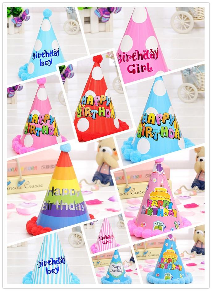 Lovely Paper Cone Birthday Party Hats For Children Fun Set Kids Adults New Year Of 10 Printable Hat