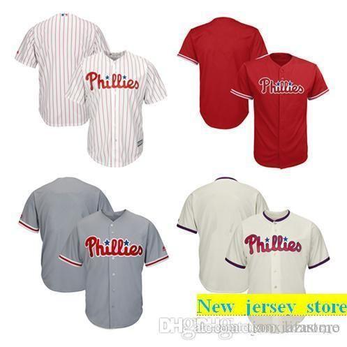 2019 Men Women Youth Phillies Jerseys Blank Jersey Baseball Jersey ... 68d4a45ae6a8