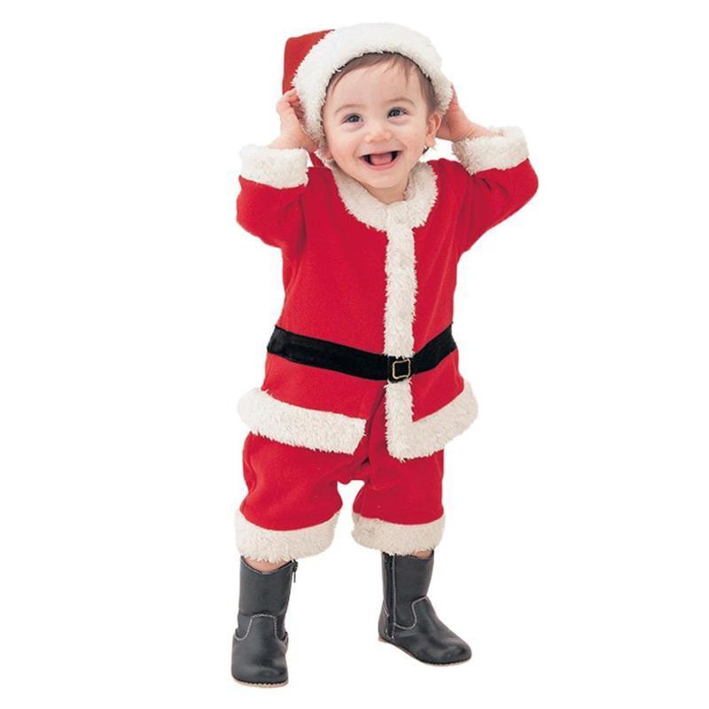 grande sconto nuovi prodotti per Garanzia di qualità al 100% 2pcs Neonati vestiti di Natale Neonate Abbigliamento Set I miei primi  vestiti del bambino di Natale Set Boy Babbo Natale Costume Dress + Hat