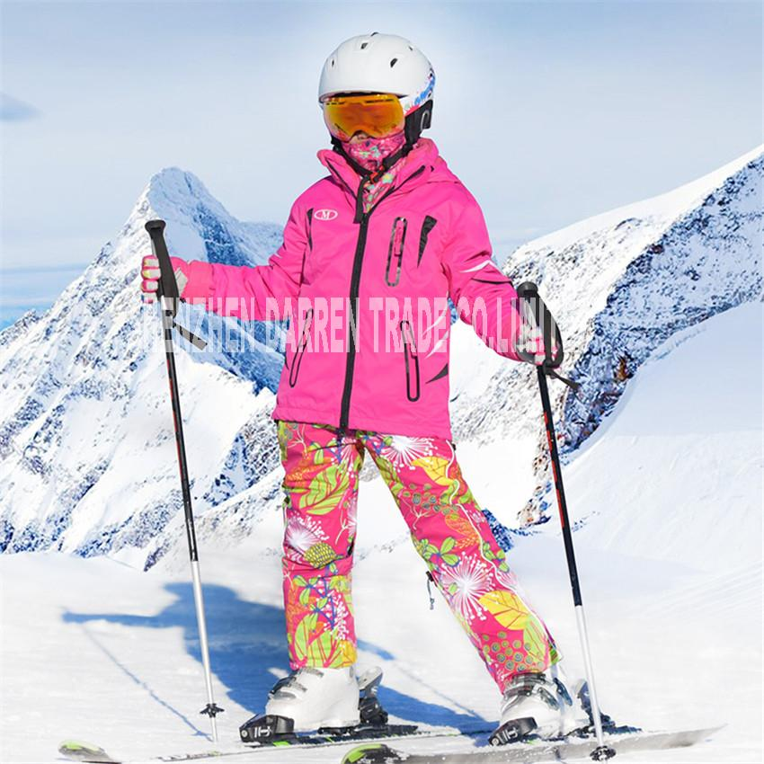 1d18390e9 New Winter Suit Children Ski Wear 2017 Clothing Set Windproof Ski ...