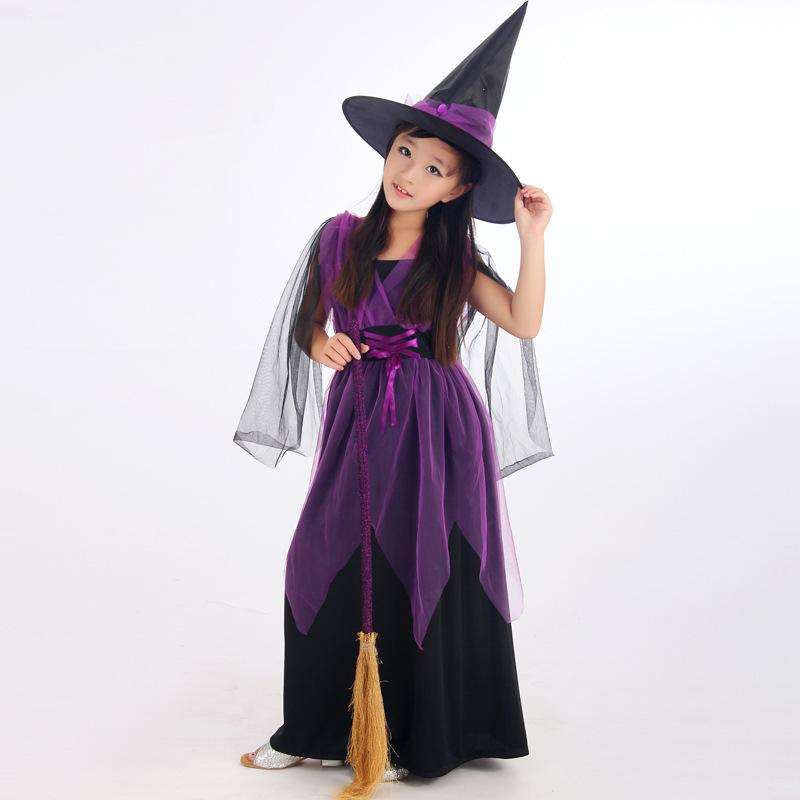 90e5571ef6e1f Clothing Case Umorden Halloween Costumes Girl Black Fly Witch Costume Dress  And Hat Cap Party Cosplay Clothing For Kids Girl Children Good Group  Halloween ...