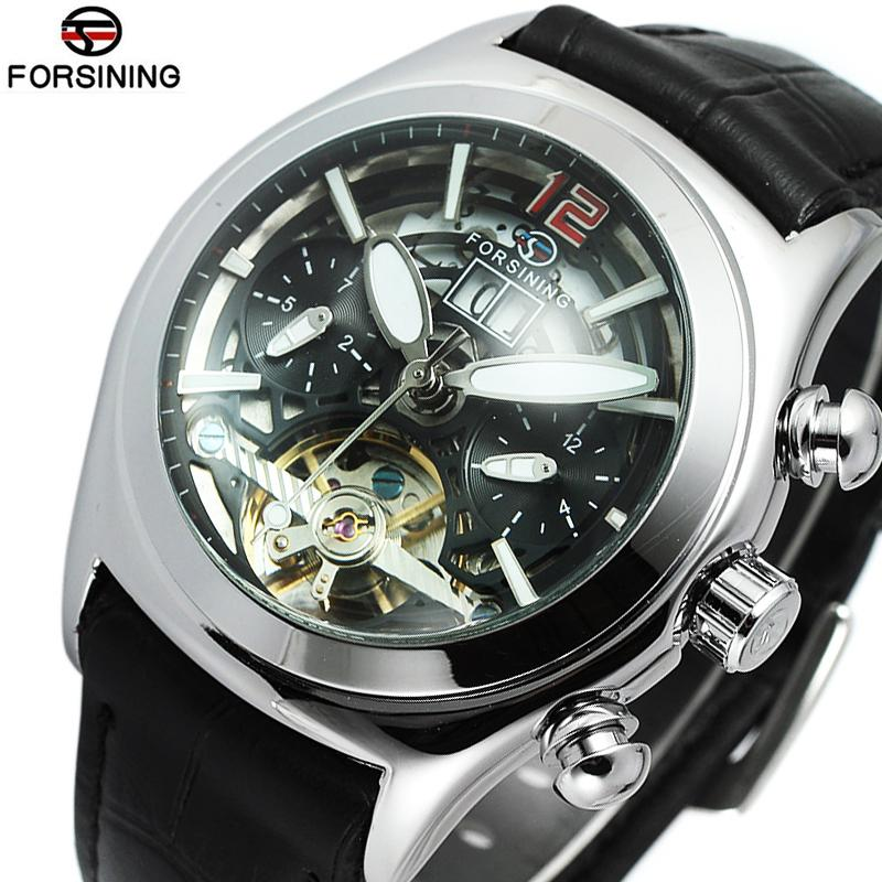 watch watches face designer mechanical hodinky skeleton brand wrist clock men homme flywheel montre automatic product leather unique cheap luxury