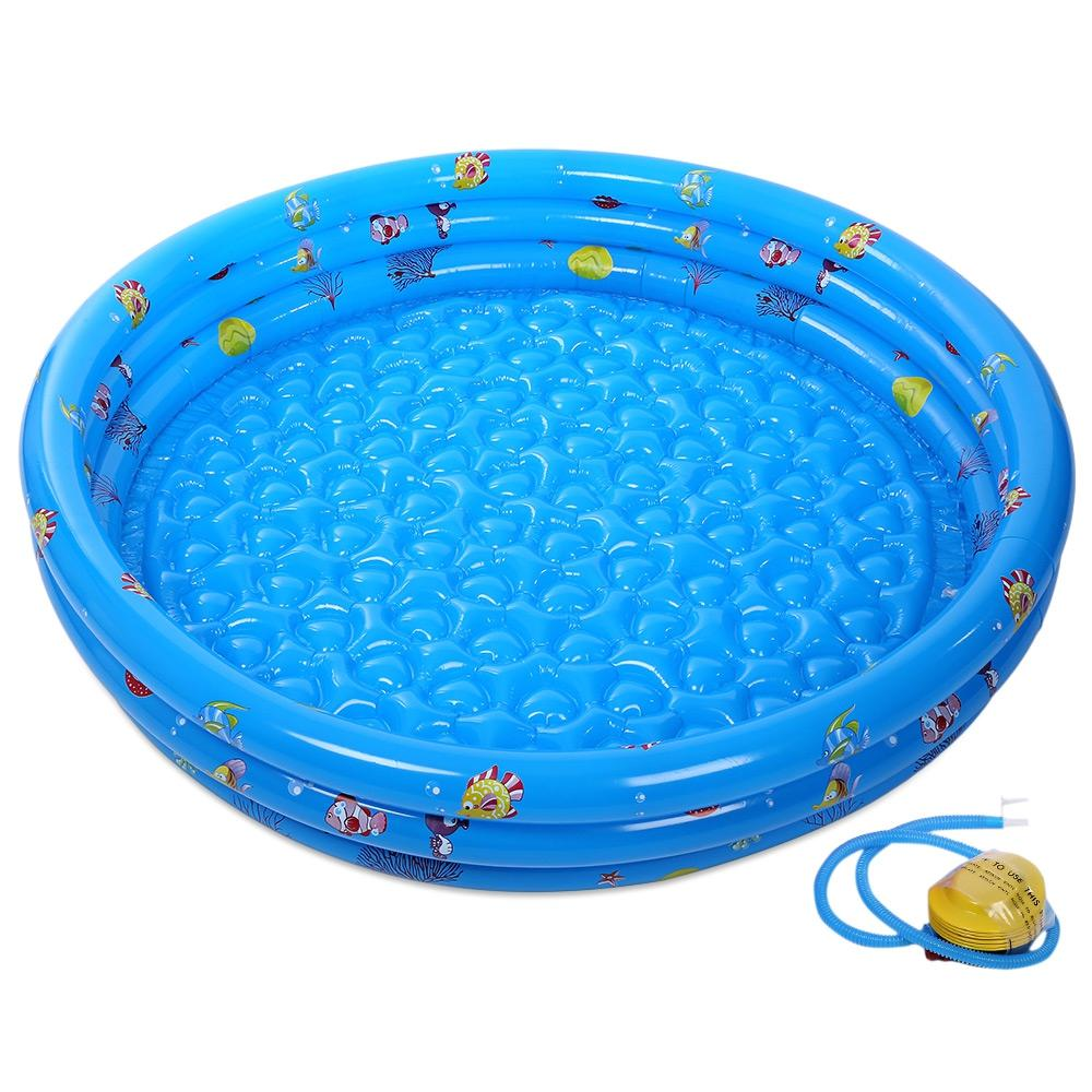 Shop For Cheap Portable Baby Inflatable Swimming Pool Cartoon Round Basin Water Bathtub Soft Air Cushion Outdoors Summer Water Playing Toys Swimming Pool & Accessories