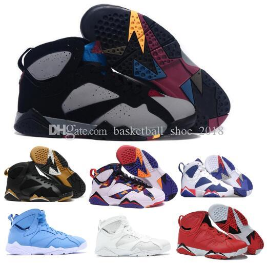 2102542dd5fe3a Basketball Shoes 7 7s VII Men Women Silver UNC Bordeaux Olympic Panton Pure  Money Nothing Raptor N7 Homme Trainers Sport Shoe Sneaker Cheap Basketball  Shoes ...