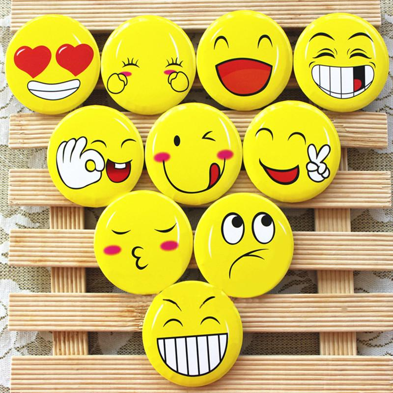 40PCS 3CM Cute badge brooch emoji party favor kids birthday party gift  supply baby shower favor