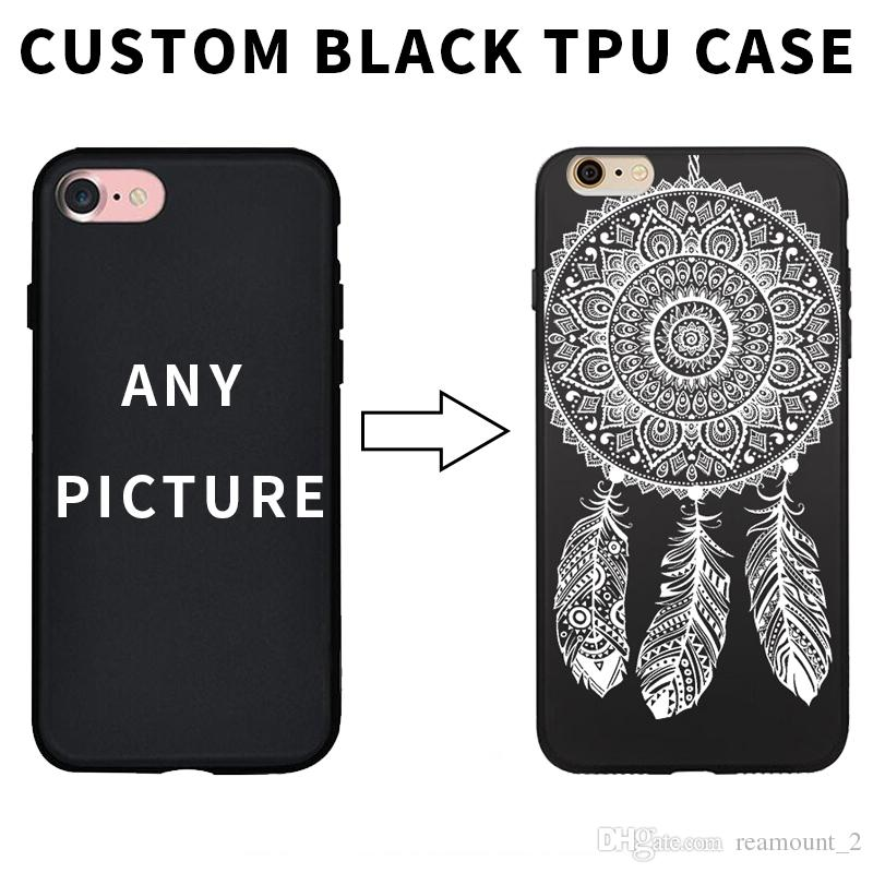 new product d09c6 e1805 Hot selling case with custom made for iPhone 5 case DIY photo on black TPU  case for iPhone 6 cases