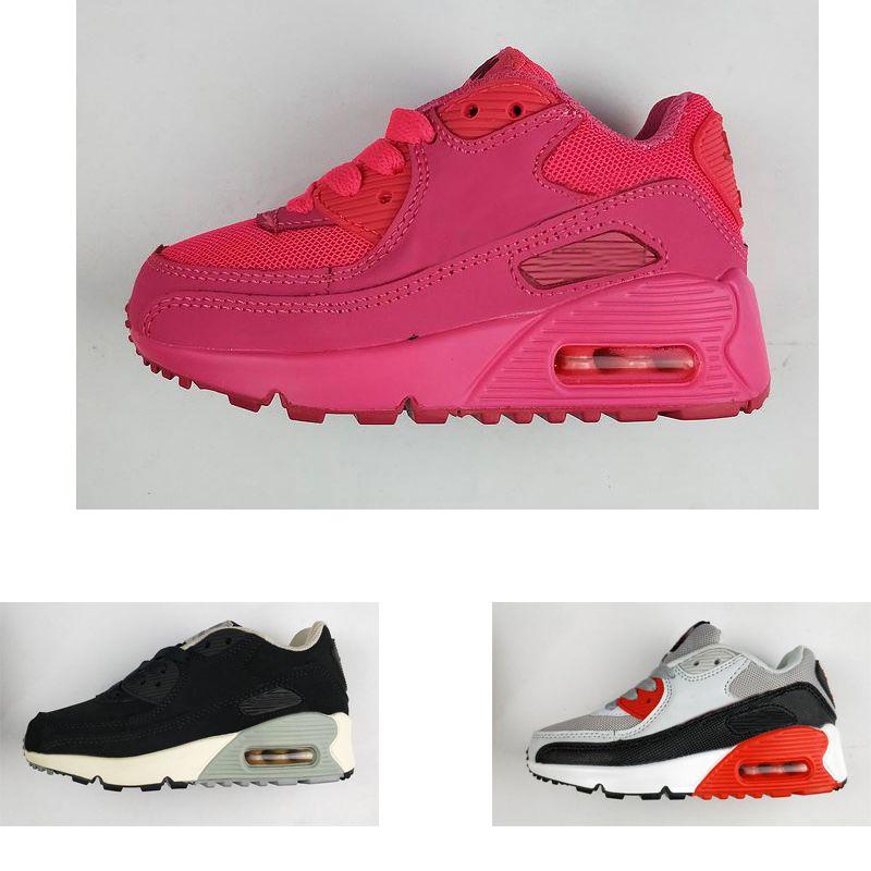 e7dda9995 Compre Nike Air Max 90 Diseñador De Marca Para Niños Zapatos Para Bebés Y  Niños Pequeños Zapatillas Deportivas 90 Zapatillas Deportivas Para Niños