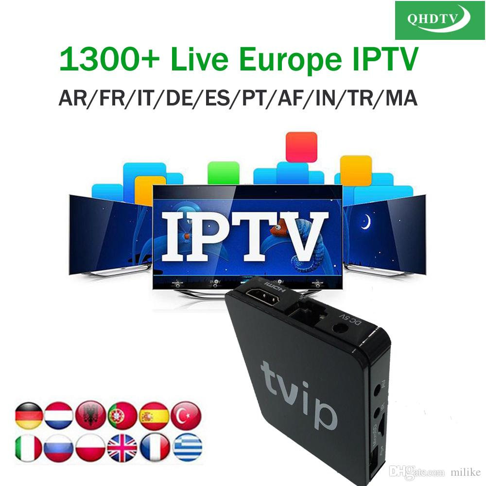 TVIP 412 Linux streaming arabic iptv box with 1 year QHDTV apk account for  French Germany italian Morocco UK VOD tvip412 415 STB