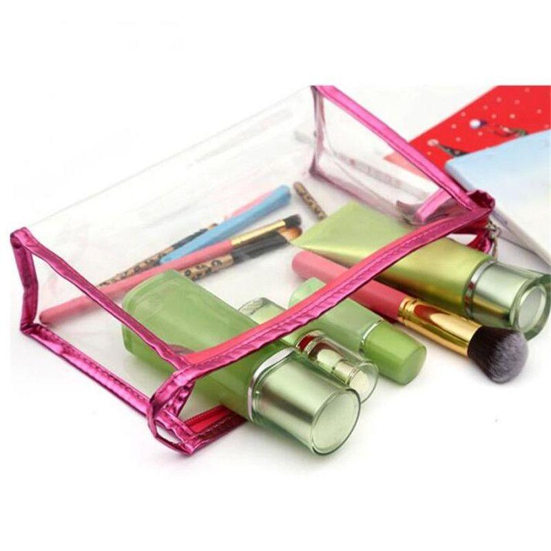Forma saco cosmético casos a composição cosmética sacos senhora saco de lavagem de viagem de PVC transparente sacos de armazenamento de sacos impermeáveis