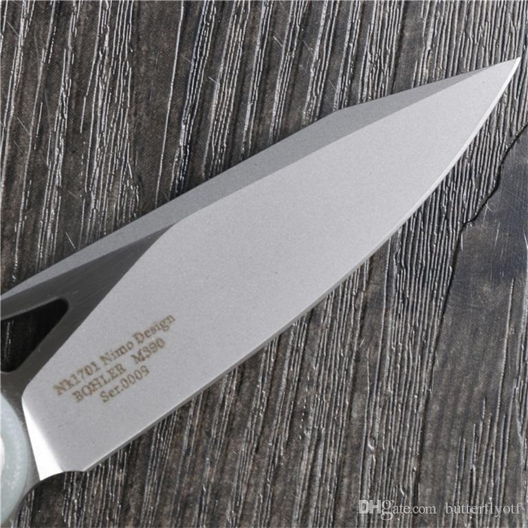 Nimo 1701 складной нож M390 нож 100% M390 + G10 оригинальный дизайн ручка шарикоподшипник системы рыбалка обороны карманный нож бесплатная доставка
