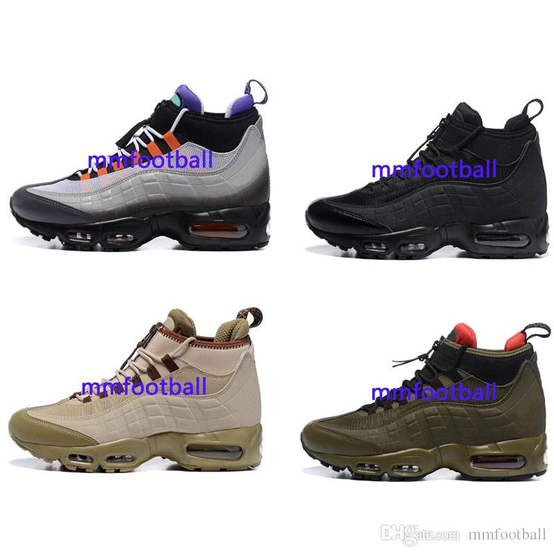 b6cff73951af76 Hot Sale Cushion 95 Mens Shoes 95 Sneakerboot Black Army Green ...