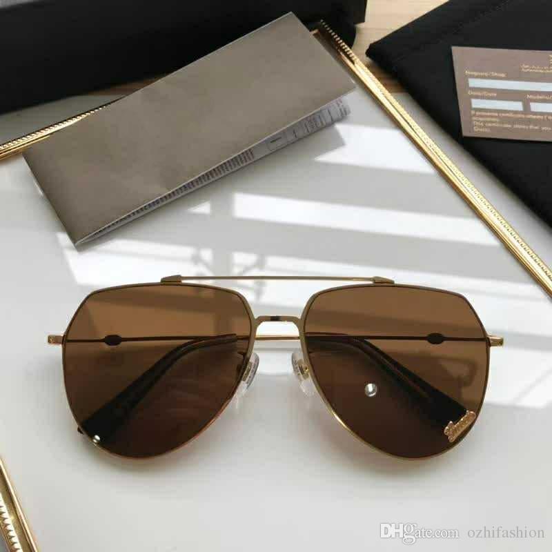 5b7b37e974853 Compre Gg8007 Homens Mulheres Marca Óculos De Sol De Gucci Gg8007 Moda Oval  Óculos De Sol Uv Lente De Proteção Revestimento Lente Espelho Moldura Sem  ...